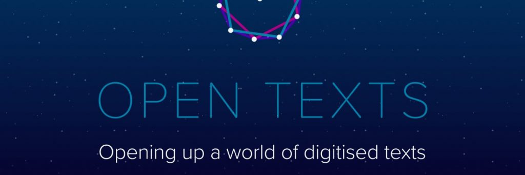 An image of the Open Texts project header and logo